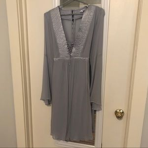 Light Blue Grey Dress from Anthropologie